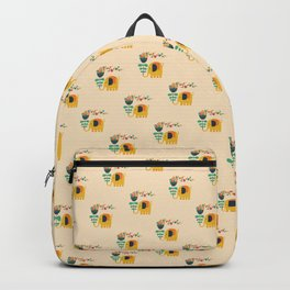 Elephant with giant flower Backpack