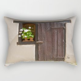 Old Wooden Door and Window Rectangular Pillow