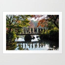 Japanese Park in Autumn Art Print