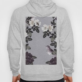 Birds and the Bees Blue Gray Hoody
