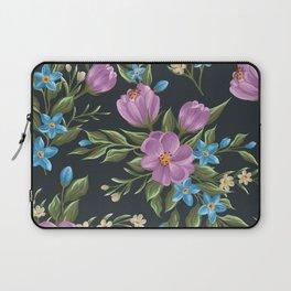 Beautiful retro flower seamless pattern Laptop Sleeve