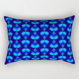 Abstract pattern of blue iridescent hearts and stripes. Rectangular Pillow