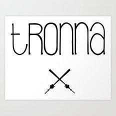 TRONNA - BEST CITY Art Print