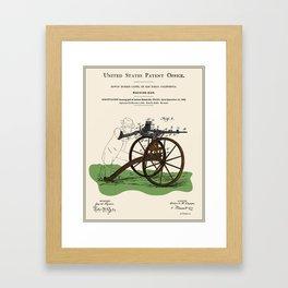 Machine Gun Patent Framed Art Print