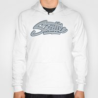 seattle Hoodies featuring Seattle by Boelter Design Co