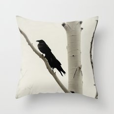 Two Crows Throw Pillow