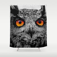 orange Shower Curtains featuring YOU'RE THE ORANGE OF MY EYES by Catspaws