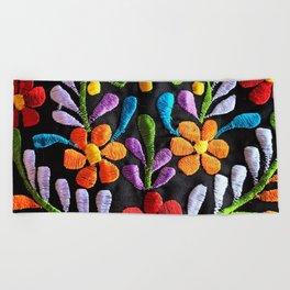 Mexican Flowers Beach Towel