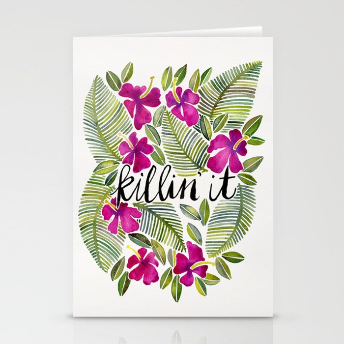 Killin' It – Tropical Pink Stationery Cards