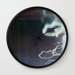 double exposure lights Wall Clock