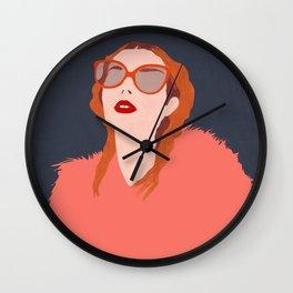 Coral fuzz Wall Clock