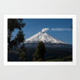 Cotopaxi Volcano in Ecuador Art Print