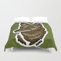 coyote Duvet Covers featuring Coyote by Sergio Campos