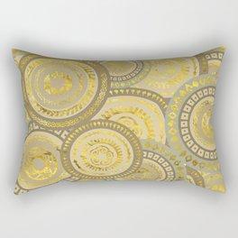 Circular Ethnic  pattern pastel gold and beige Rectangular Pillow