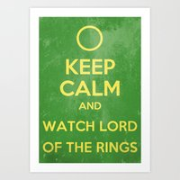 lord of the rings Art Prints featuring Lord of the Rings by MeMRB