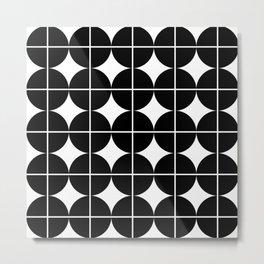 Circle Grid Metal Print