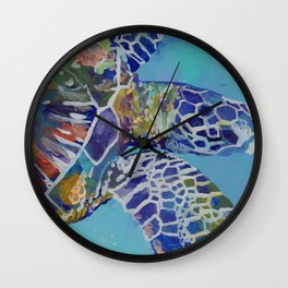 Honu Kauai Sea Turtle Wall Clock