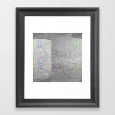 04-24-14 (Pink Cloud Bitmap Glitch) Framed Art Print