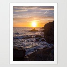 Sun in the sea Art Print