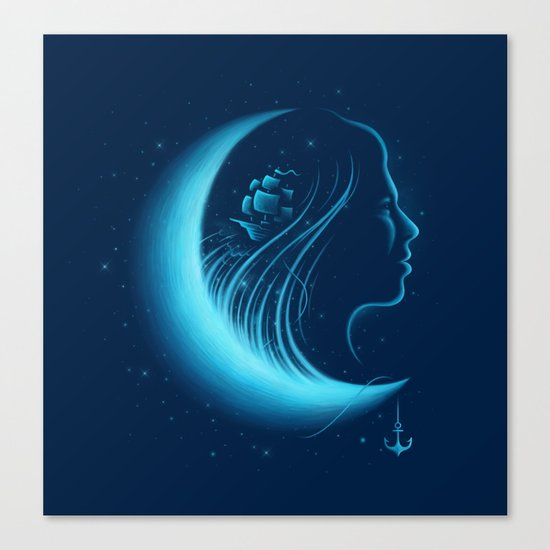 Moonlight Grace Canvas Print