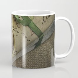 Old style loupe and vintage letters Coffee Mug