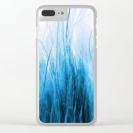 Feather Grass Blue Clear iPhone Case