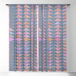 Colorful Triangles Sheer Curtain