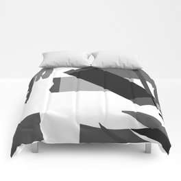Matisse Inspired Black and White Collage Comforters