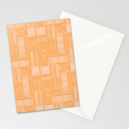 The Comb Drawer Geometric Pattern Stationery Cards