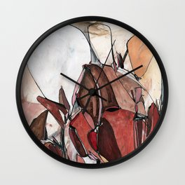 Red Harvest Wall Clock