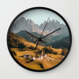 Villnoss, Italy Travel Artwork Wall Clock