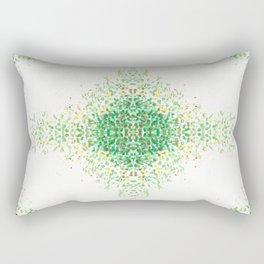 Floral Light Green Mosaic Pattern Rectangular Pillow
