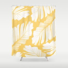 Yellow Banana Leaves Dream #1 #tropical #decor #art #society6 Shower Curtain