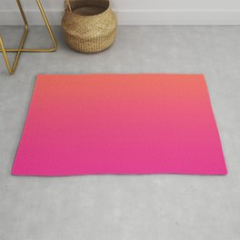 Coral Bright Pink Ombre Gradient Pattern Orange Peachy Soft Trendy Texture Rug
