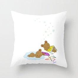 My sleepy babies Throw Pillow