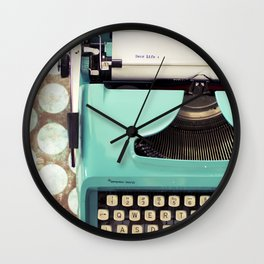 Letter to Myself Wall Clock
