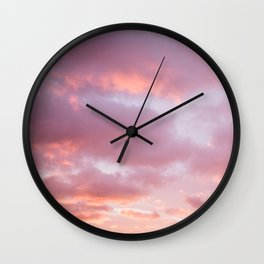 Unicorn Sunset Peach Skyscape Photography Wall Clock