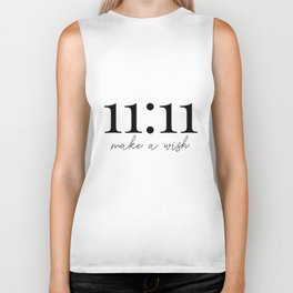 11:11 make a wish Biker Tank