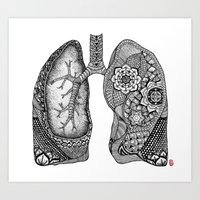 lungs Art Prints featuring Lungs by ericajc