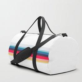Simply Striped (white) Duffle Bag