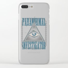 Paranormal Investigator Ghost Hunter All Seeing Eye Gift Clear iPhone Case