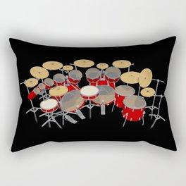 Large Drum Kit Rectangular Pillow