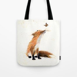 Monarch Fox - animal watercolor painting Tote Bag