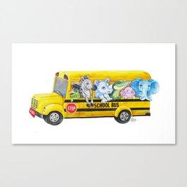 Animal SchoolBus Canvas Print