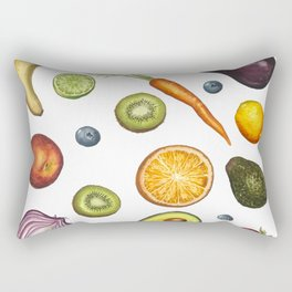 Fruits and vegetables Rectangular Pillow