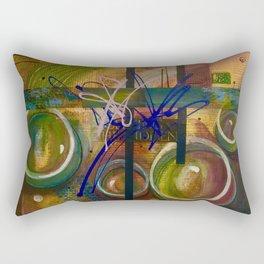 Abstract bubbles hidden secret message uplifting  Rectangular Pillow