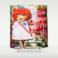 """sparkle Shower Curtains featuring """"Sparkle"""" by Crow's Feet Designs2"""