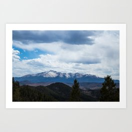 Colorado Springs Mountains Art Print