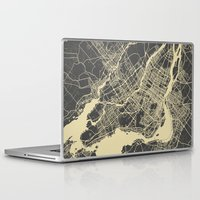 montreal Laptop & iPad Skins featuring Montreal Map by Map Map Maps