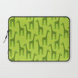 Giraffes-Green Laptop Sleeve